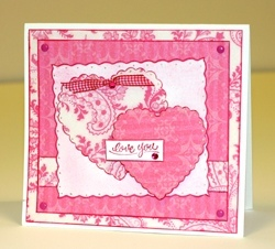 Scalloped Heart Card