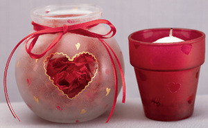 Ultra Frost Heart Votives