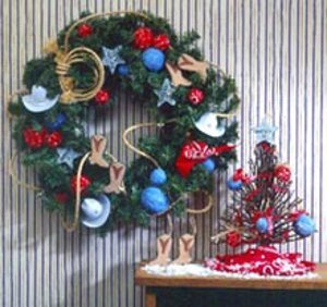 Country Themed Ornaments and Wreath