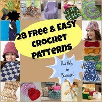 28 Free Easy Crochet Patterns and Help for Beginners + 9 Bonus Patterns