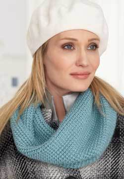 Blue Slouchy Cowl