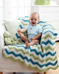 Striped Chunky Blanket