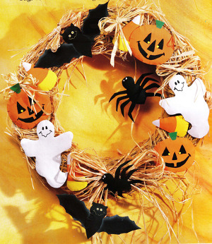 Brown Bag Halloween Wreath