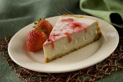 Stevia Strawberry Swirl Cheesecake