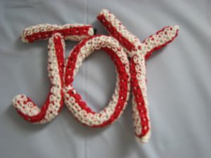 Joy Crochet Sign