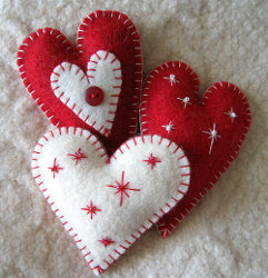 Heart Felt Ornaments Tutorial