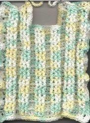 Bethany's Basket-Weave Crochet Bib