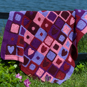 Crochet Valentine Hearts Afghan