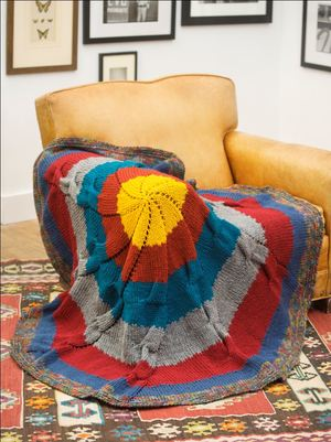 Colorful Knit Throw