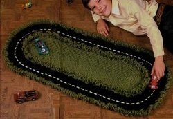 Crochet Racetrack Rug