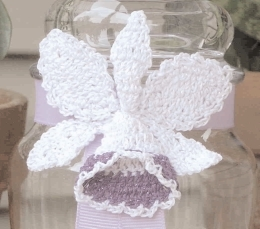 Beautiful White Crochet Orchid
