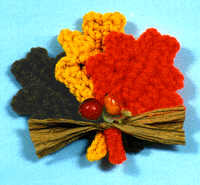 Crochet Leaves Fridgie