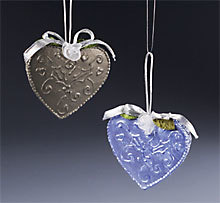 Heart Tin Ornament