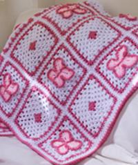Crochet Butterfly Throw
