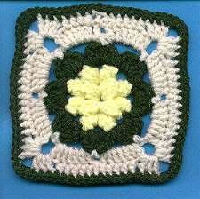 Yellow Puff Granny Square