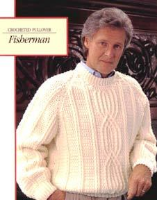 Fisherman Crochet Sweater