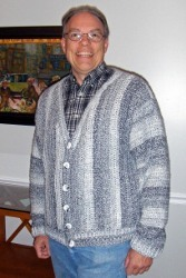 Men's Collage Cardigan