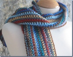 Men's Easy Striped Scarf