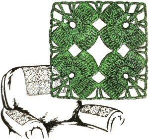 Crochet Shamrock Motif