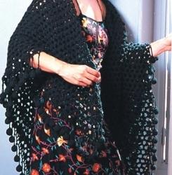 Crochet Black Mesh
