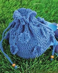 Drawstring Crochet Bag