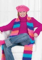 Crochet Pink Cowl