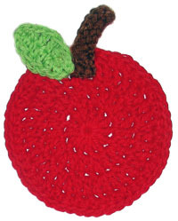 Crochet Apple Coaster