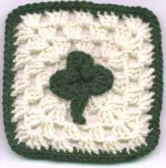 Crochet St. Patrick's Day Granny Square