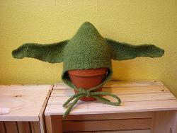 Felted Baby Yoda Hat