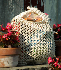 Free Knit Grocery Bag