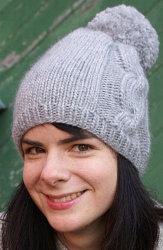 Knit Ariosa Pom-Pom Hat