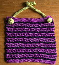 Knitted Baby Bib