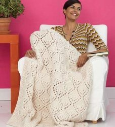 Knit Lace Afghan