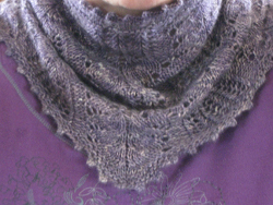 Knit Frost Flowers Lace Cowl