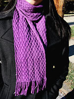 Knit Archernar Cabled Scarf