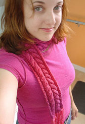 Knit Karaoke Cable Scarf