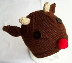 Knit Rudolph Hat