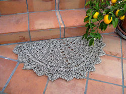 Knit Rag Doily Rug
