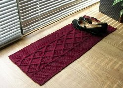 Knitted One Skein Shoe Rug