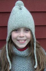 Knitting Patterns For Childrens Earflap Hats : Earflap Hat AllFreeKnitting.com