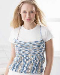 Organic Cotton Crochet Tank Top