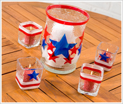 Patriotic Candle Holders