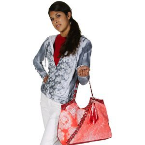 Faux Lace Tie Dye Hoodie and Tote