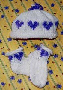 Circle of Hearts Baby Hat and Socks