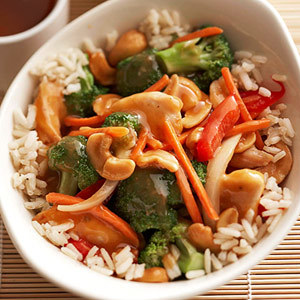 Cashew Chicken and Rice