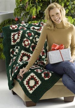 Holiday Granny Afghan and Pillow