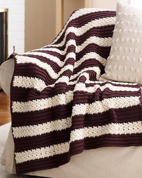 Herringbone Stripe Afghan