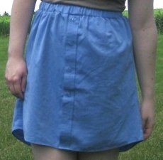 Skirt from Men's Button Down