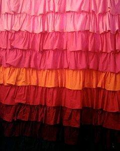 Anthropologie Smoldering Hues Shower Curtain