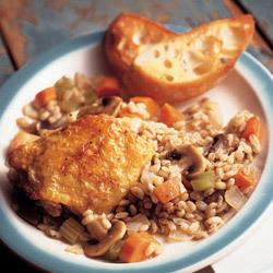 Mushroom Barley Chicken